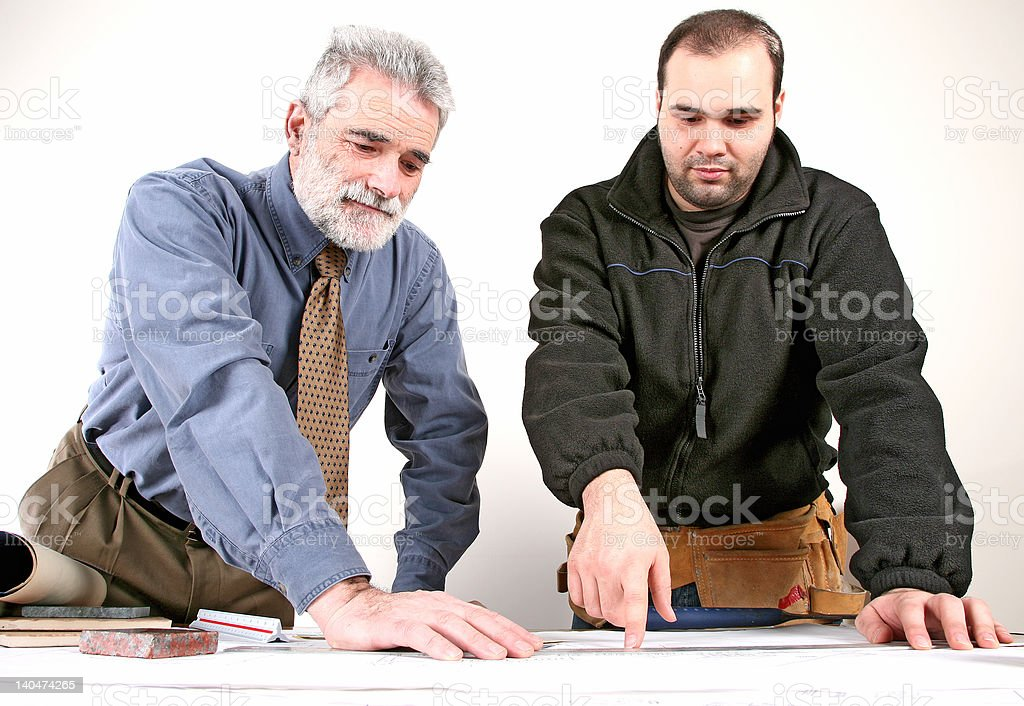 Construction Meeting royalty-free stock photo