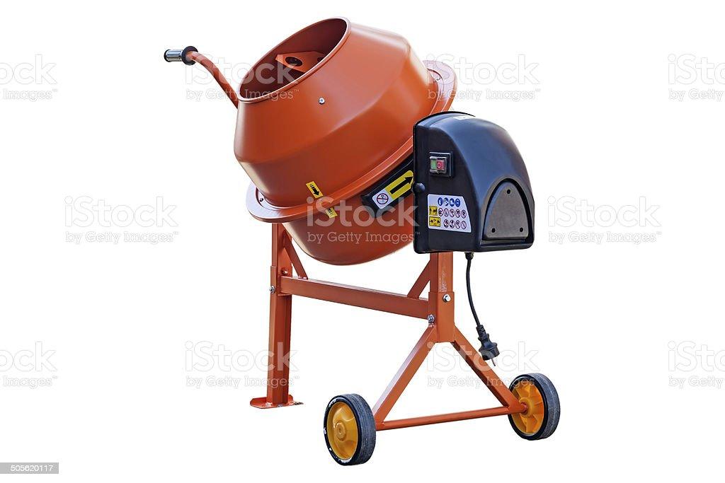 Construction mixer stock photo
