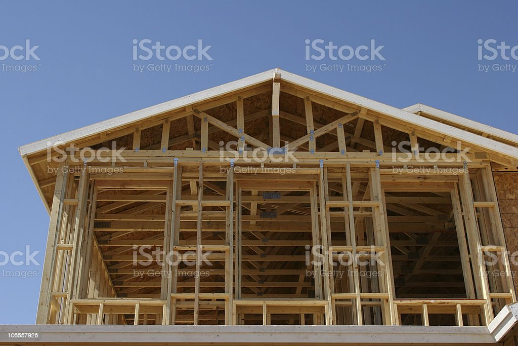 Construction, New Home royalty-free stock photo