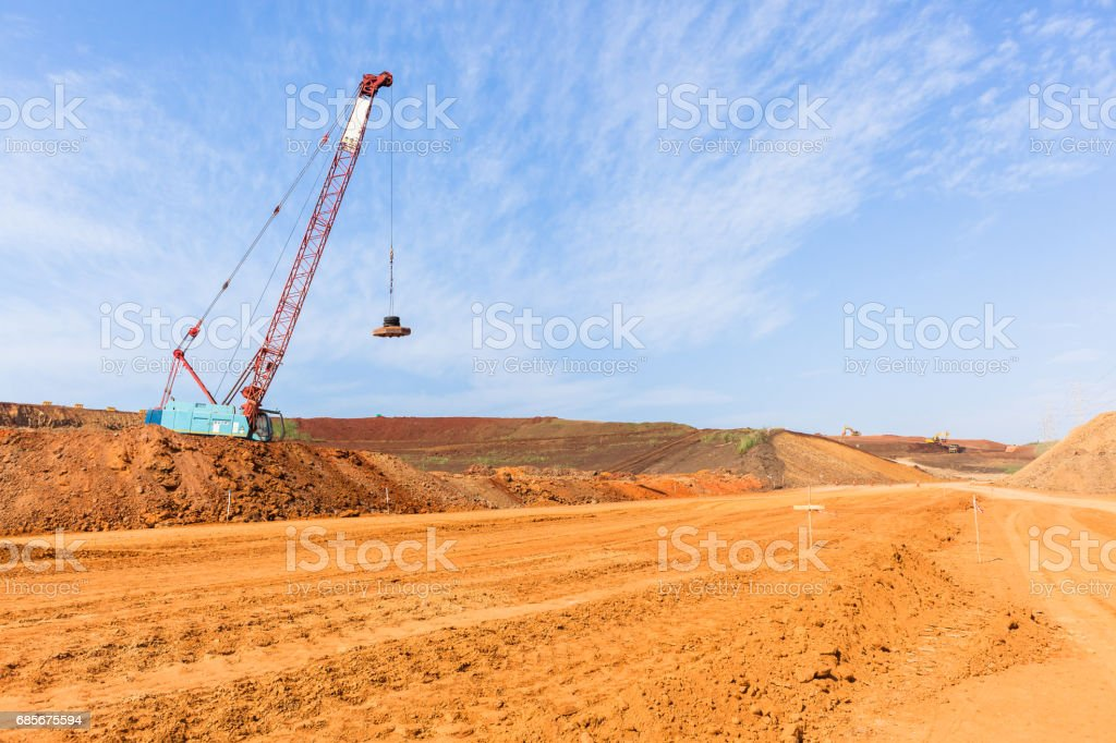 Construction New Road Earthworks Landscape stock photo