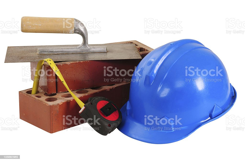 Construction objects. Isolated royalty-free stock photo