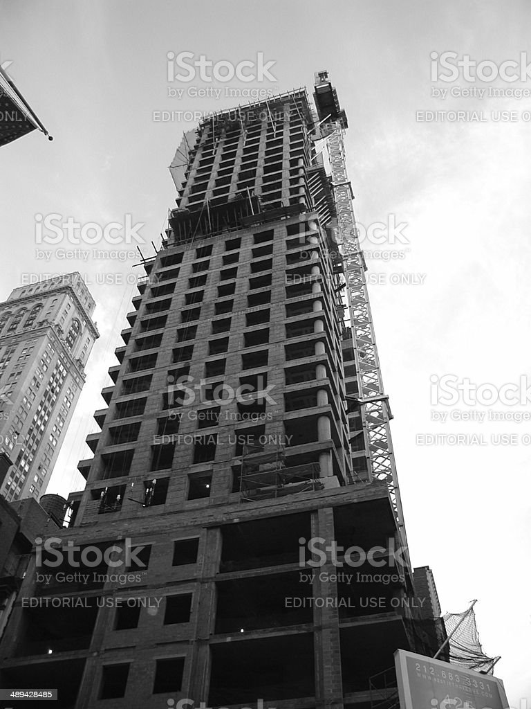 Construction of 425 Fifth Ave Condos NYC stock photo