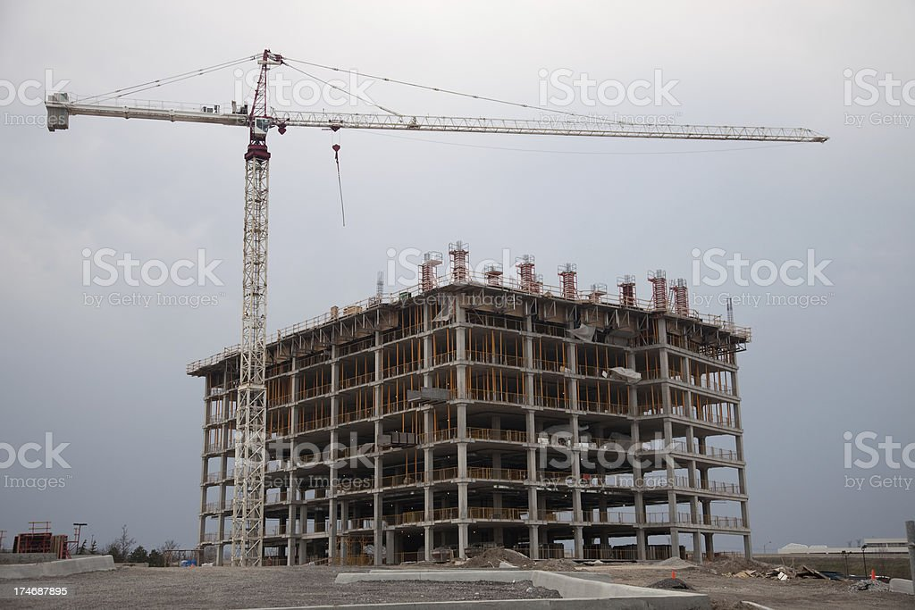 Construction of a commercial building stock photo