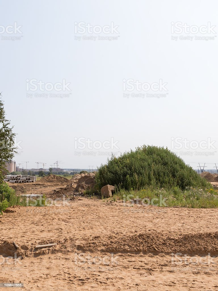 Construction of a new road, Moscow region stock photo