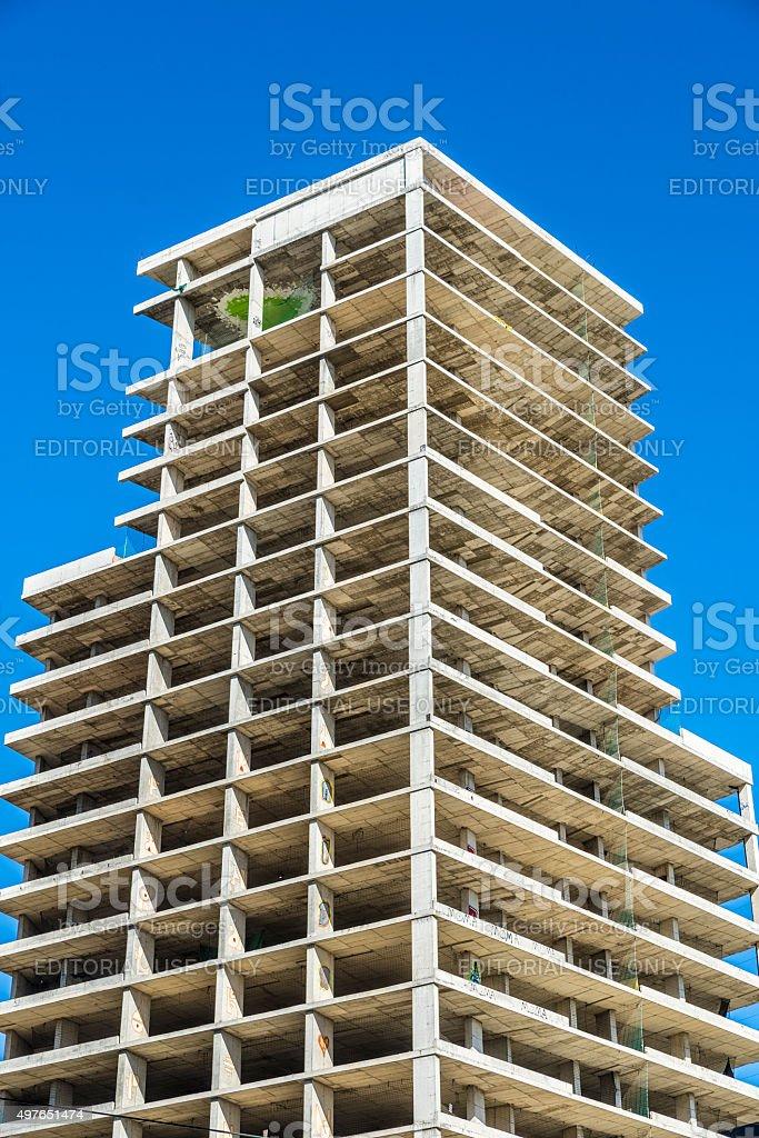 Construction of a skyscraper stock photo
