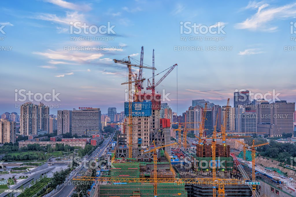 Construction of Beijing stock photo