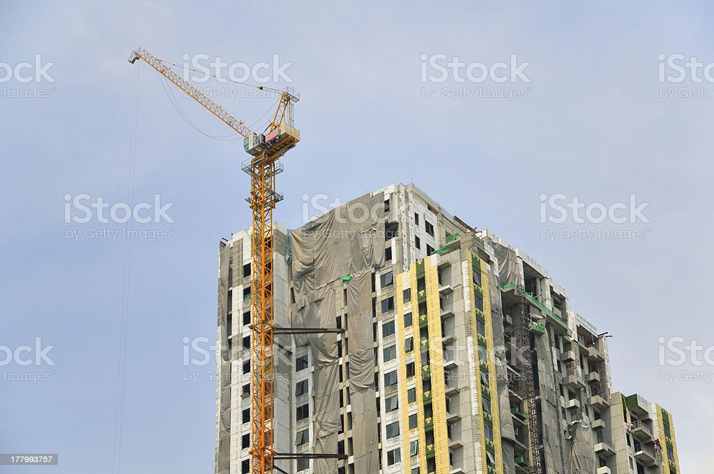 construction of building royalty-free stock photo