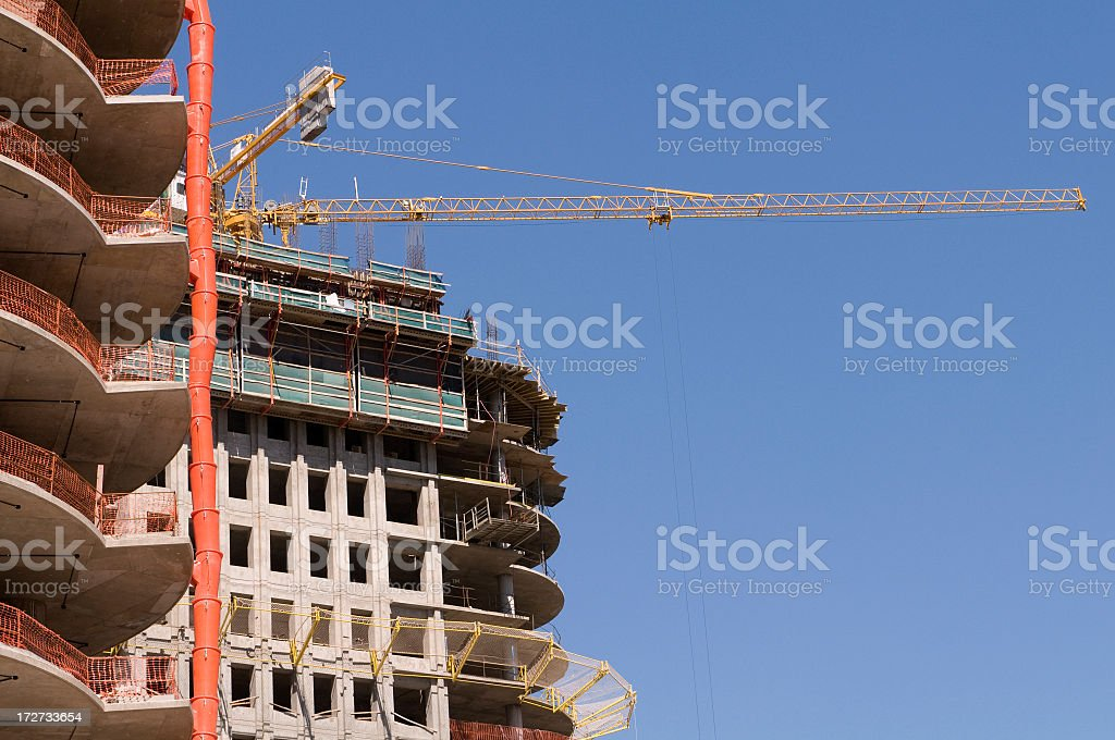 Construction of buildings royalty-free stock photo