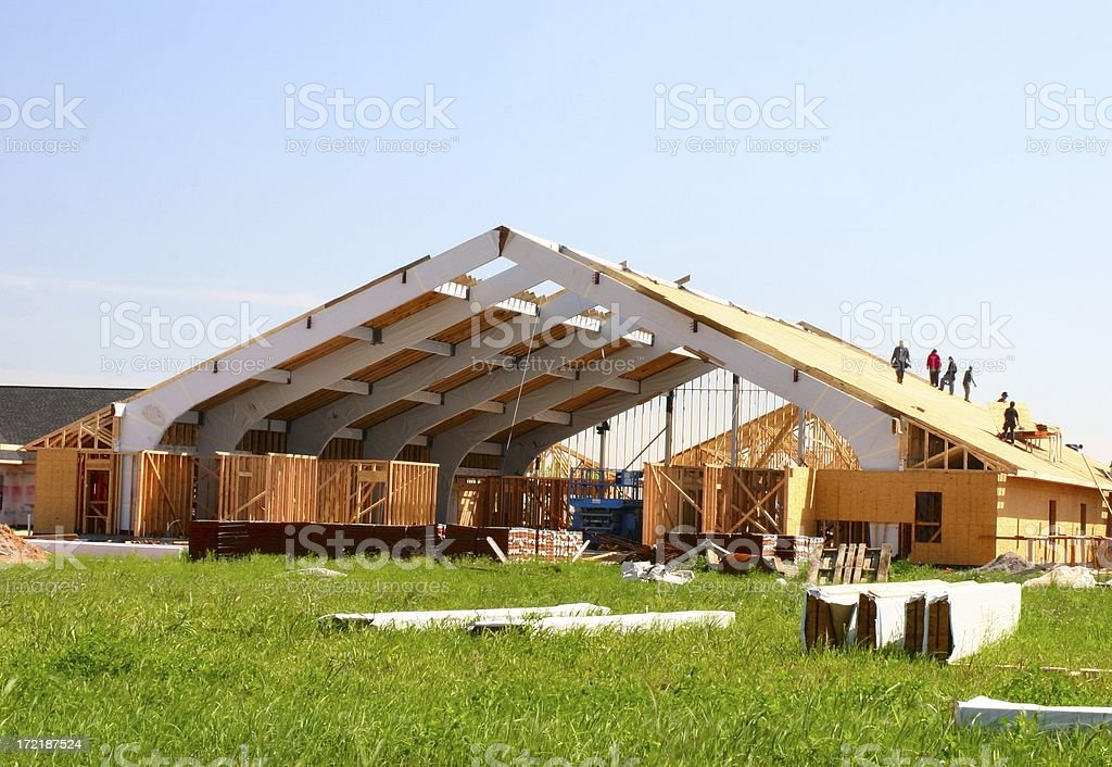 Construction of church 2 royalty-free stock photo