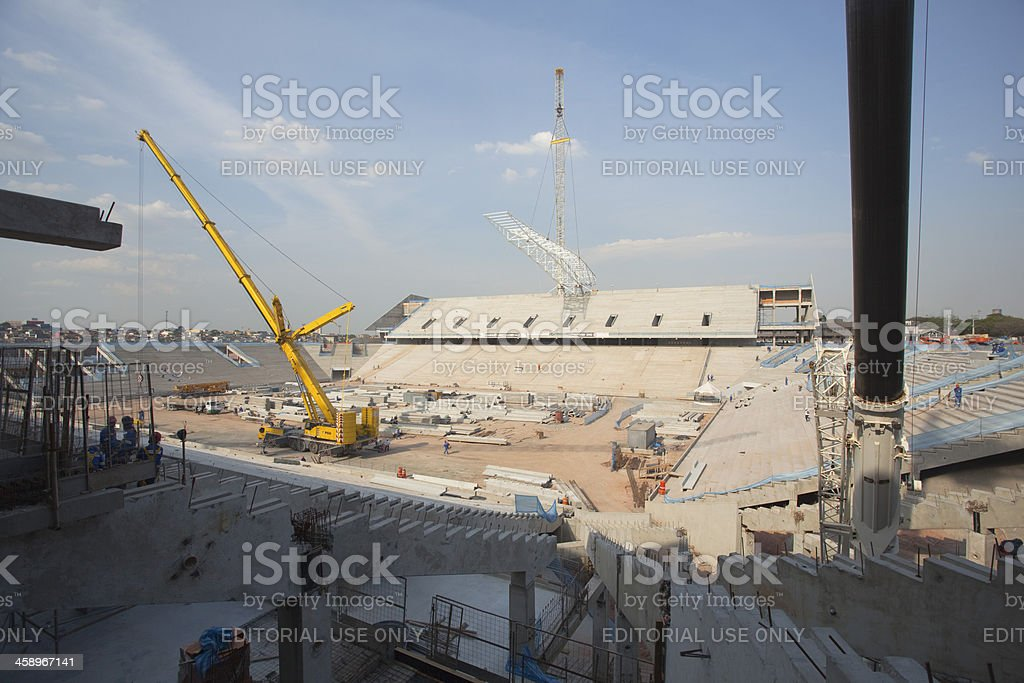 'Construction of Corinthians Arena in Brazil, FIFA World  Cup 201' stock photo