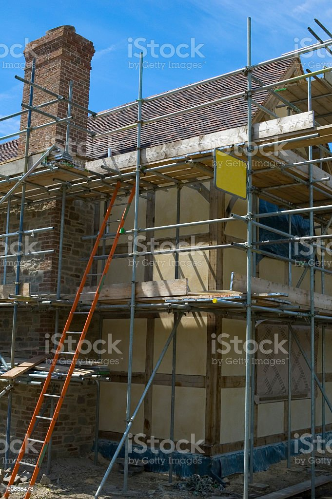 Construction of family home royalty-free stock photo