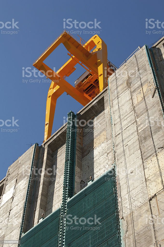 Construction Of Hydro Electric Power Generating Station. royalty-free stock photo