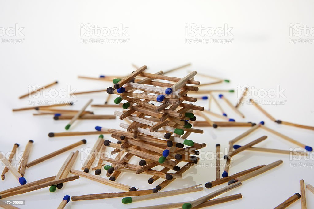 Construction of matches royalty-free stock photo
