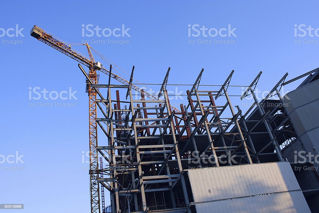 Construction of modern building royalty-free stock photo