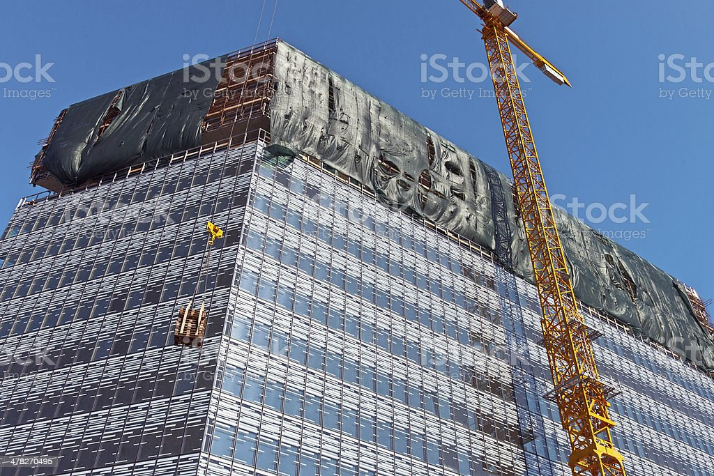 Construction of Modern Office Building in Slovenia royalty-free stock photo