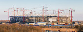 Construction of new football stadium in Rostov-on-Don. Russia