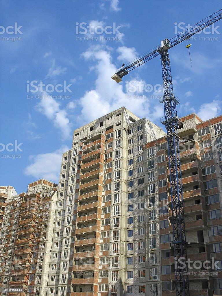 Construção de nova casa moderna apartments foto de stock royalty-free