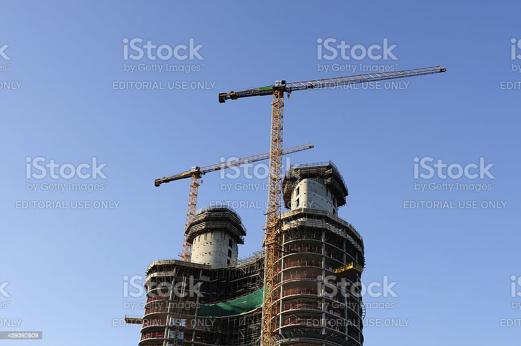 Construction of new Rabobank Nederland headquarters in Utrecht stock photo