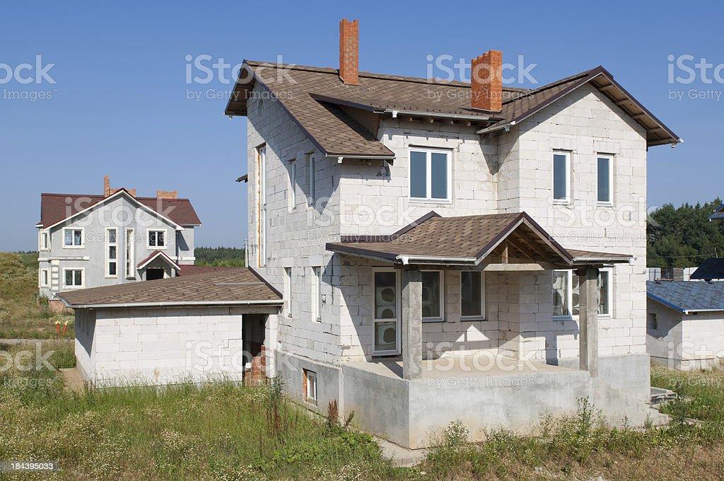Construction of new suburban house royalty-free stock photo