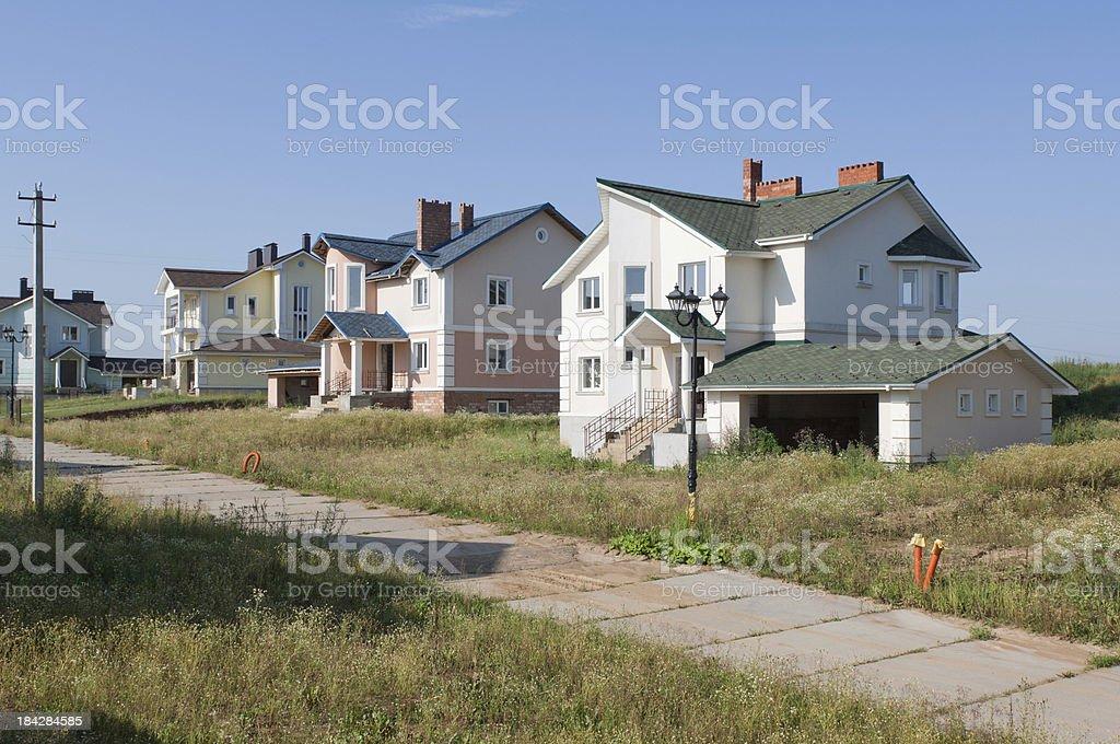Construction of new suburban houses royalty-free stock photo
