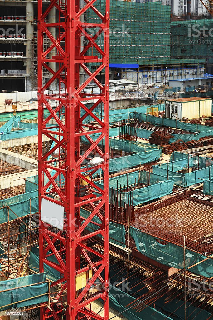 Construction of office buildings royalty-free stock photo