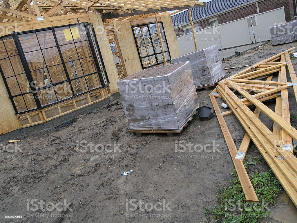 Construction of our new House royalty-free stock photo