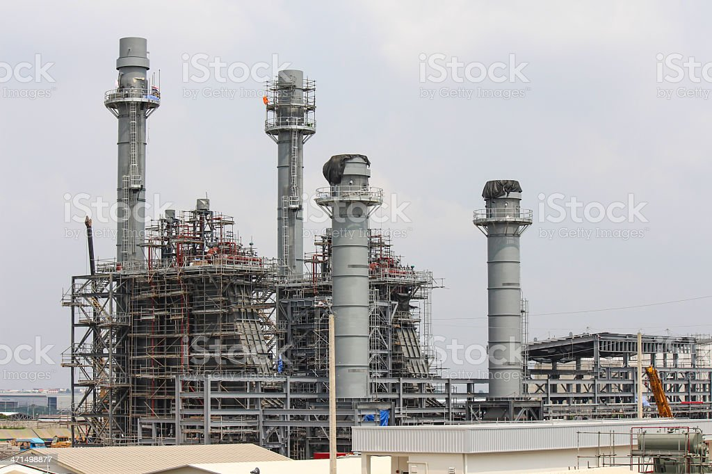 Construction of Power Plant royalty-free stock photo