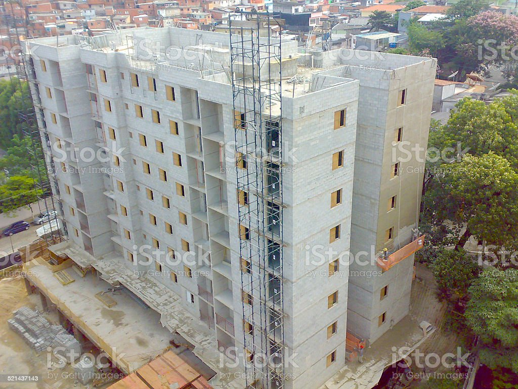 Construction of residential building stock photo
