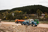 Construction of road, working machines.