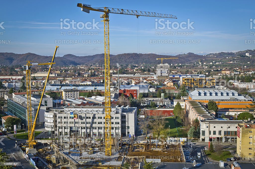 Construction of  Skyscraper in Slovenia Europe royalty-free stock photo