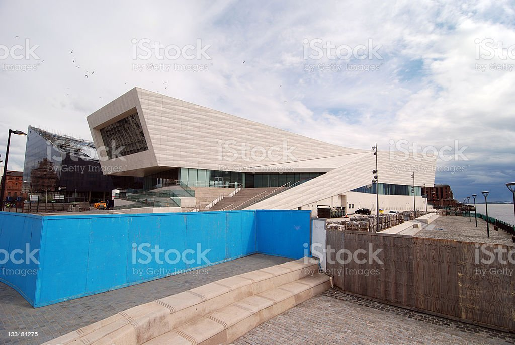 Construction of the new museum in Liverpool stock photo