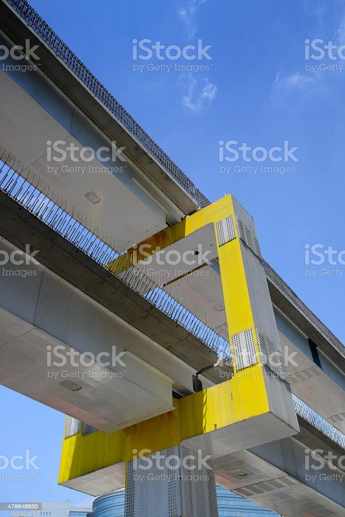 construction of the new railway stock photo