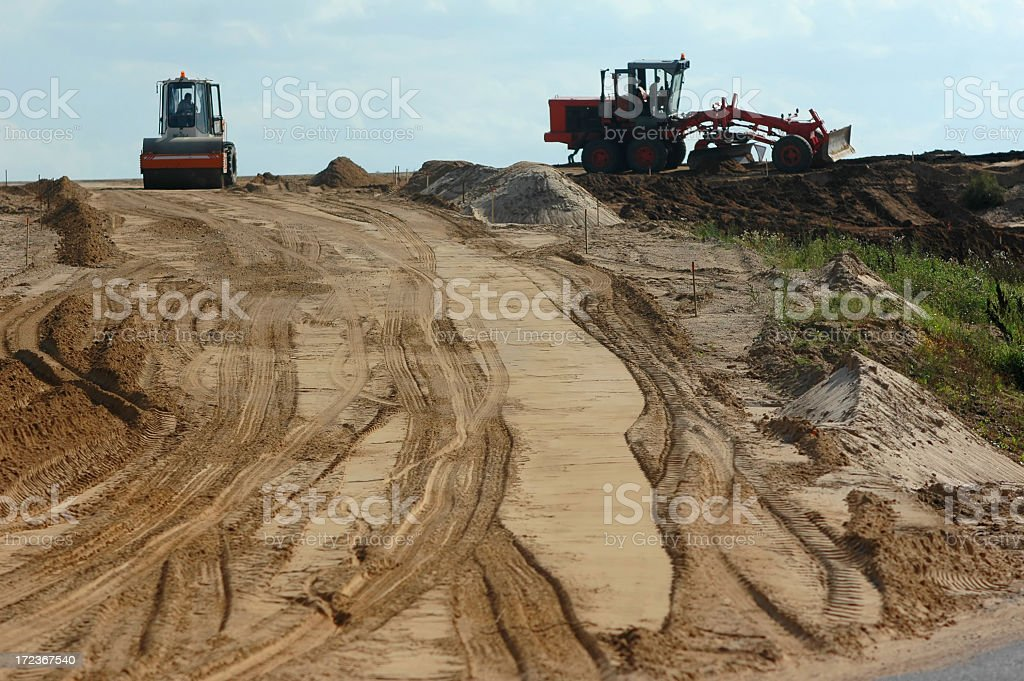 construction of the road stock photo