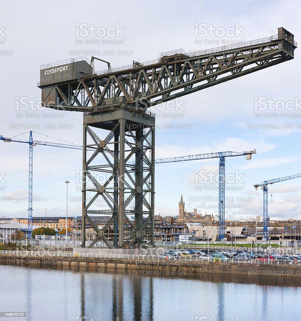 Construction of the Scottish Hydro Arena, Glasgow stock photo