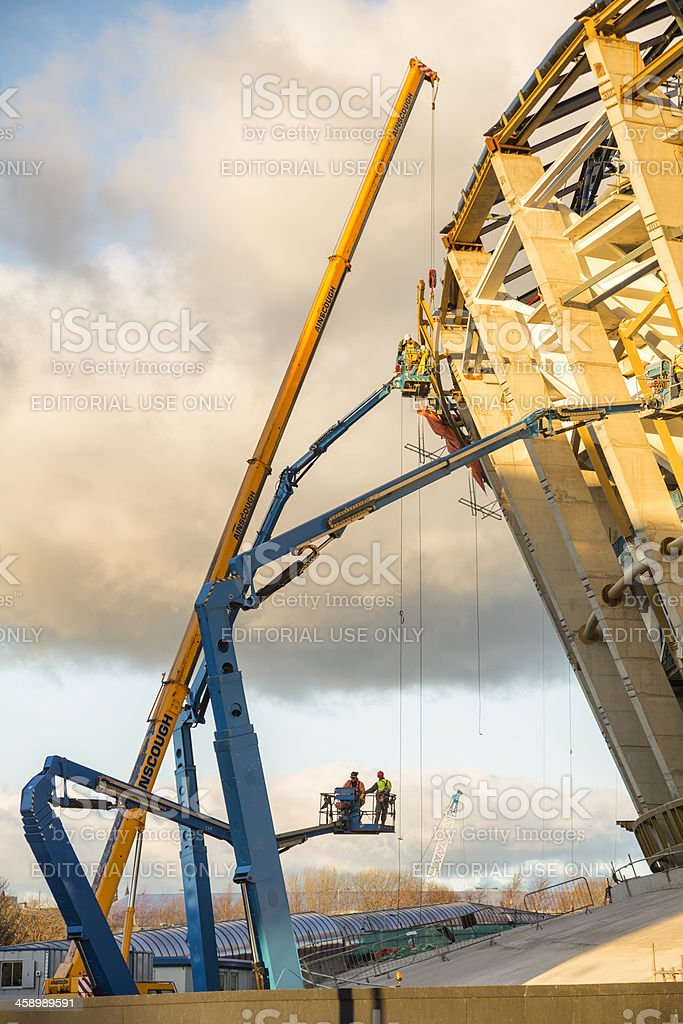 Construction of the Scottish Hydro Arena, Glasgow royalty-free stock photo