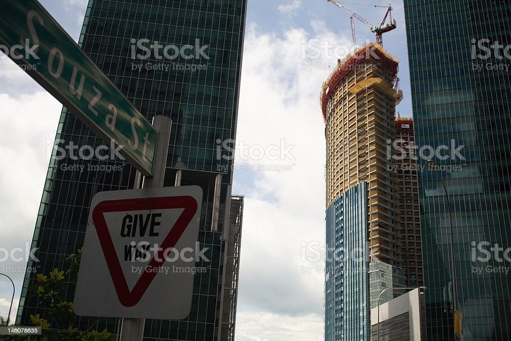 Les gratte-ciel de construction photo libre de droits