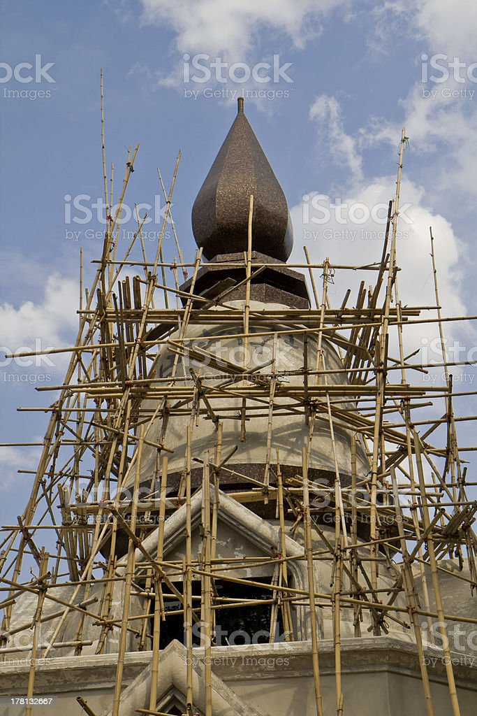 Construction of the temple Thai style royalty-free stock photo