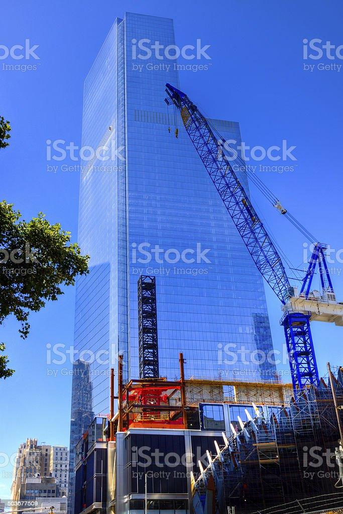 Construction of the World Trade Center, New York City. royalty-free stock photo