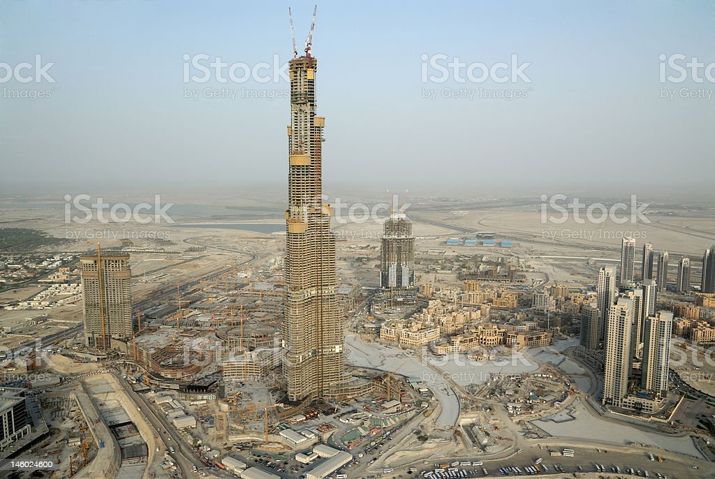 Construction Of The Worlds Tallest Building royalty-free stock photo