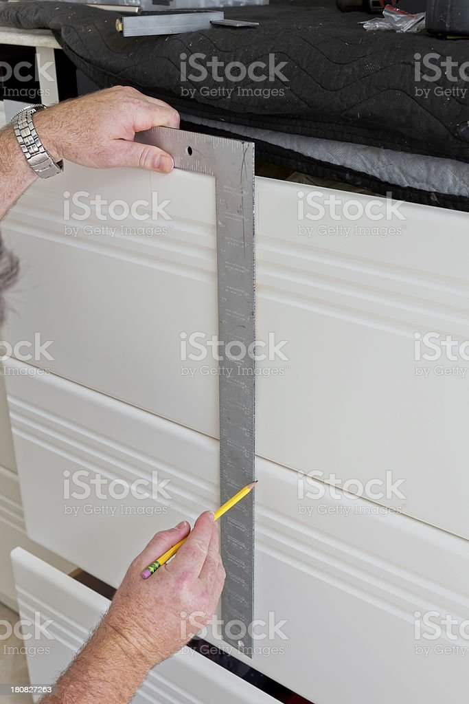 Construction of wall unit royalty-free stock photo