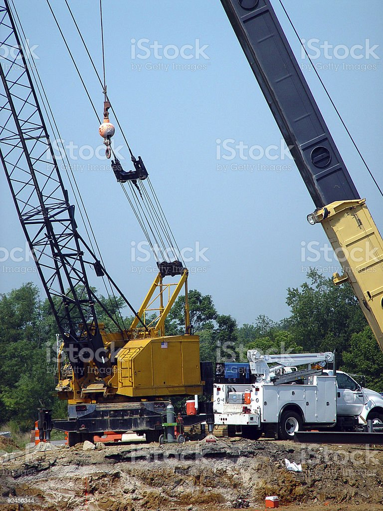 Construction on Interstate stock photo