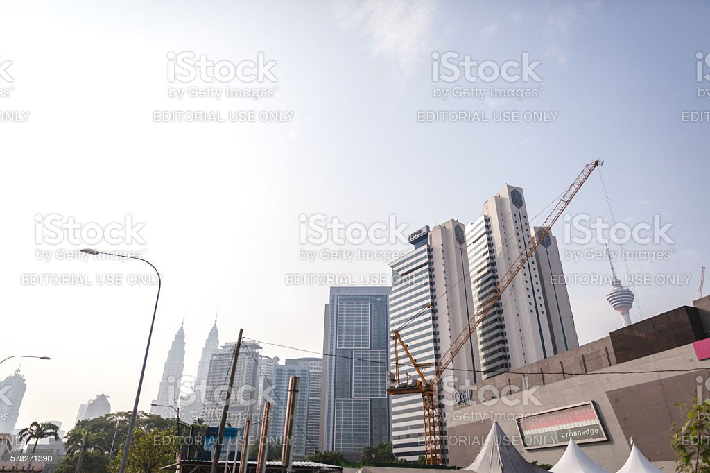 Construction on Kuala Lumpur, Malaysia royalty-free stock photo
