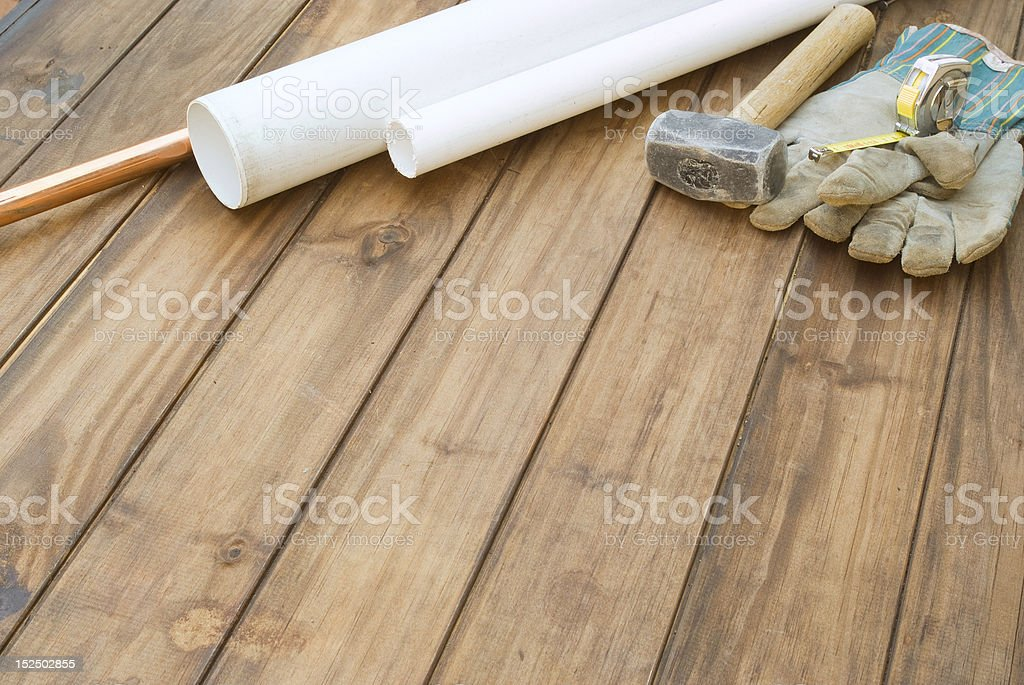 DIY construction or plumbling background royalty-free stock photo