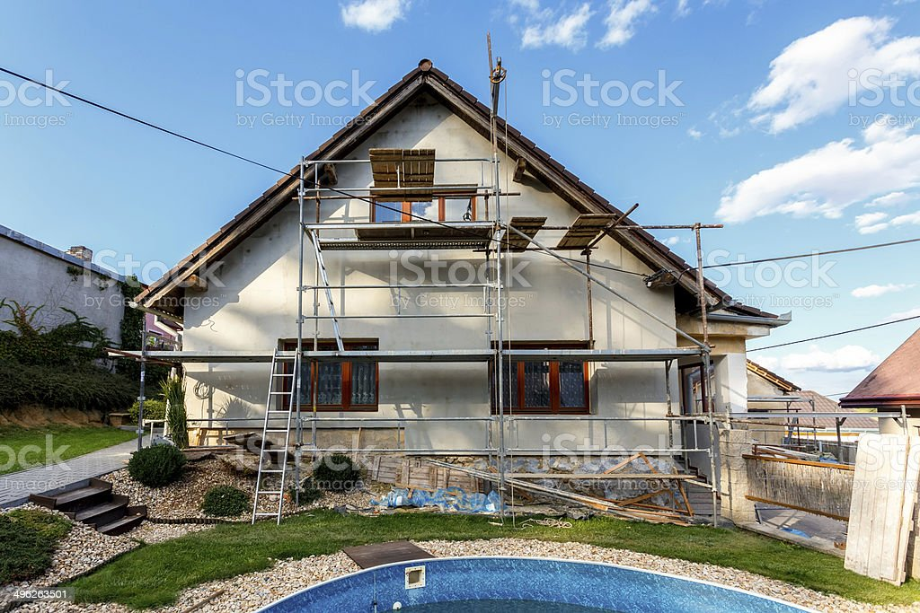 Construction or repair of the rural house stock photo