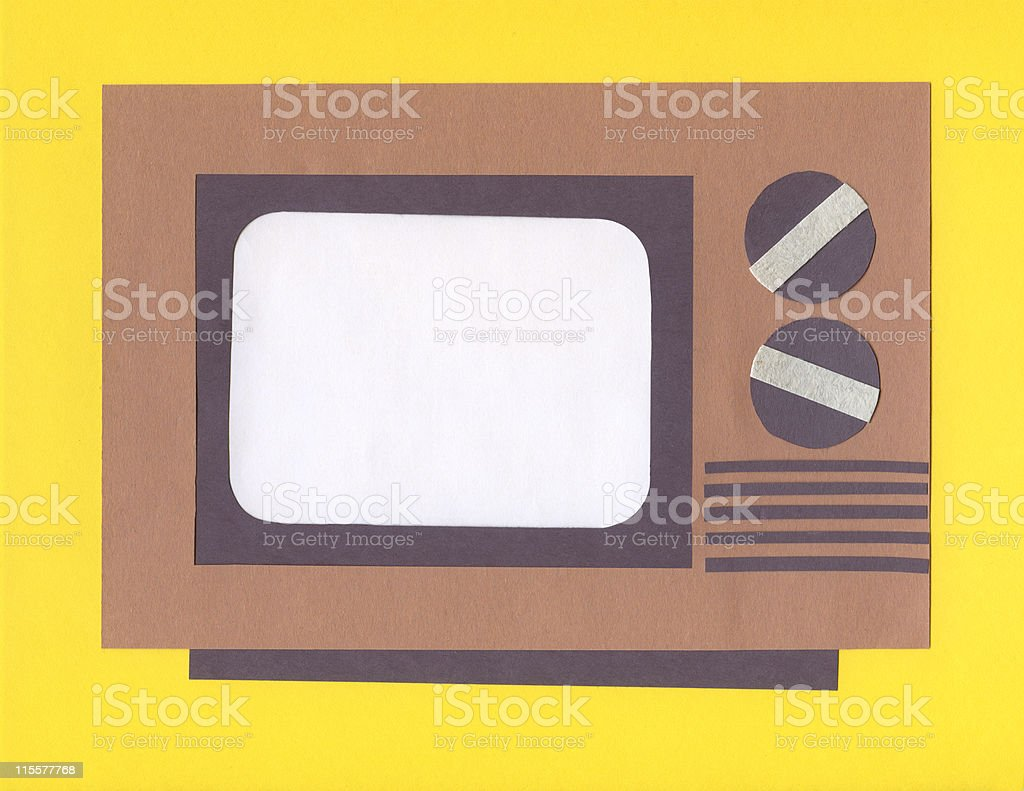 Construction Paper Art-Television stock photo