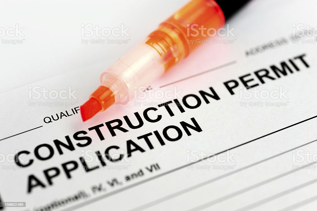 construction permit application royalty-free stock photo
