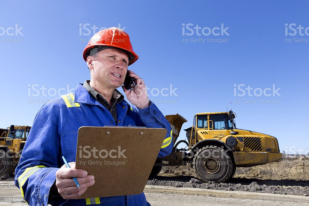 Construction Phonecall royalty-free stock photo