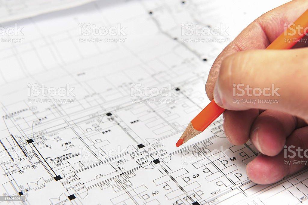 Construction Plan royalty-free stock photo
