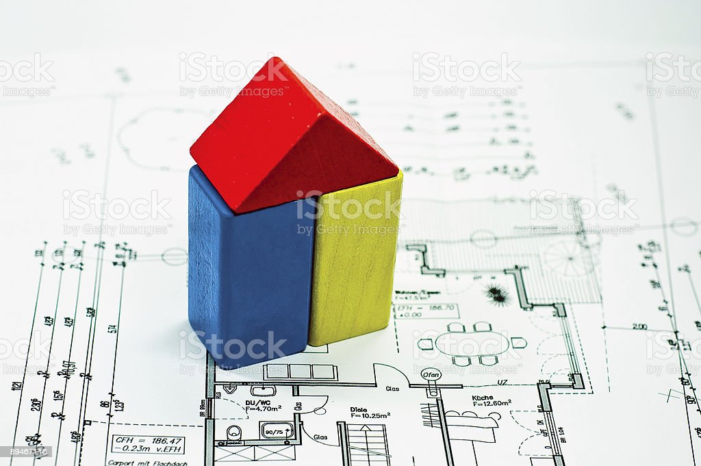 construction plan royalty-free stock photo