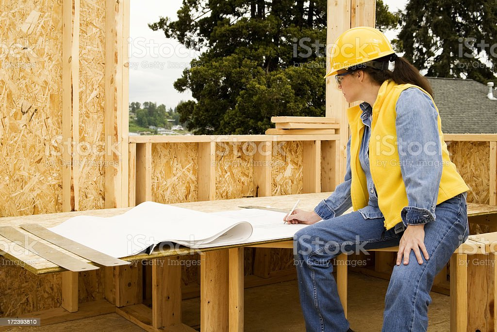Construction Plan Revision royalty-free stock photo